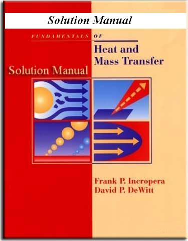 Introduction To Heat Transfer 6th Edition Solution Manual