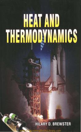 Heat and thermodynamics Hilary. D. Brewster Pdf Free Download