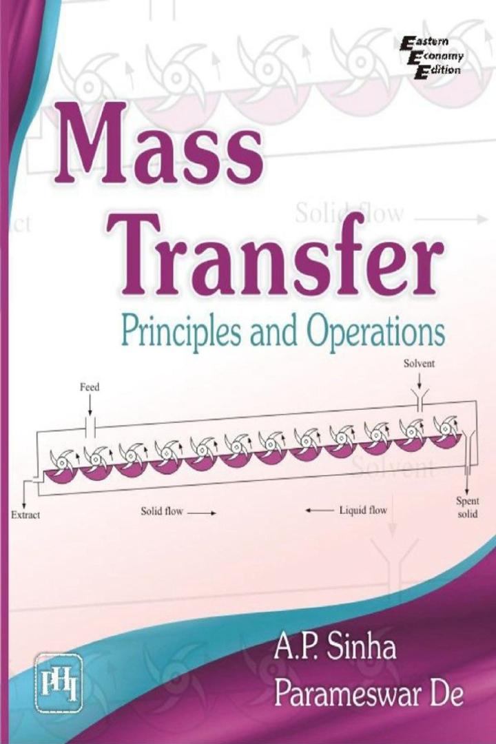 Mass Transfer Principle and operations ap sinha pdf