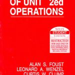 Principles Of Unit Operations 2nd edition Foust pdf free download