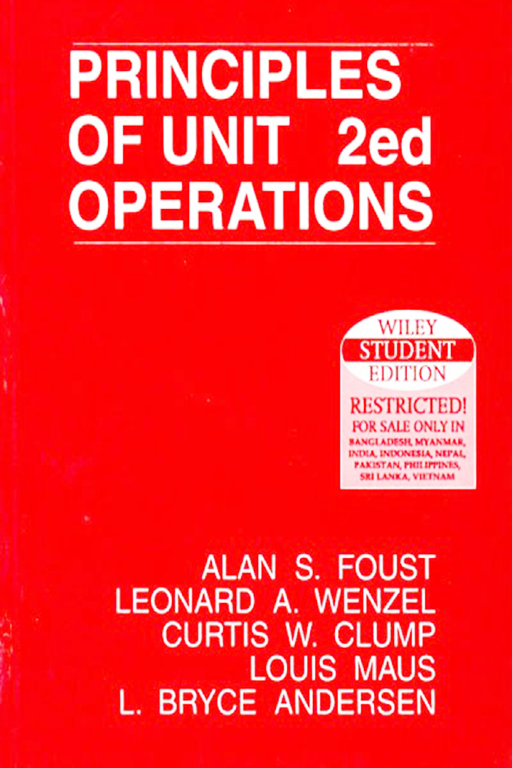Principles Of Unit Operations Foust pdf free download