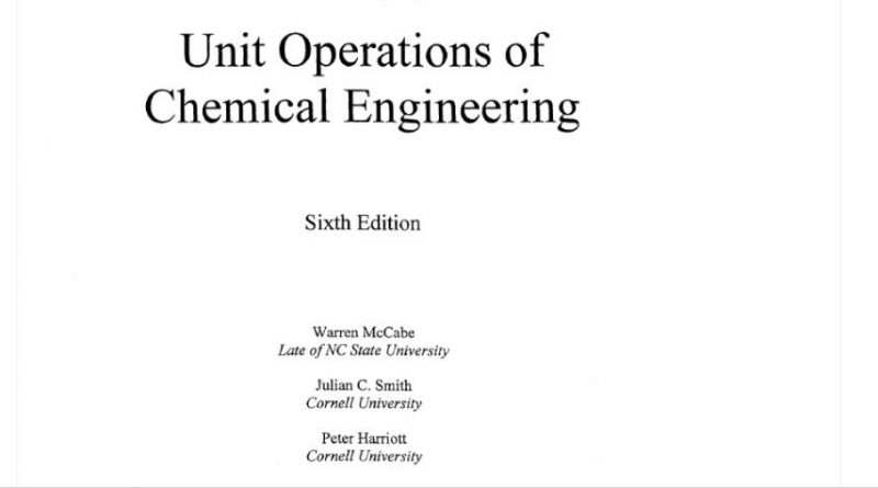 unit operation of chemical engineering 6 th edition solution
